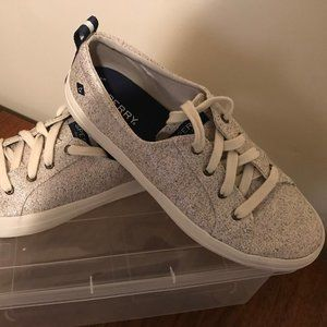 Gold Sparkle Sperry Sneakers